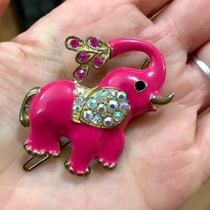 Adorable Vintage Elephant Barrette 🐘 ❤️